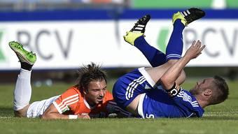 Der FC Wohlen machte auf der Pontaise keine gute Figur (hier macht Captain Alain Schultz den Käfer).