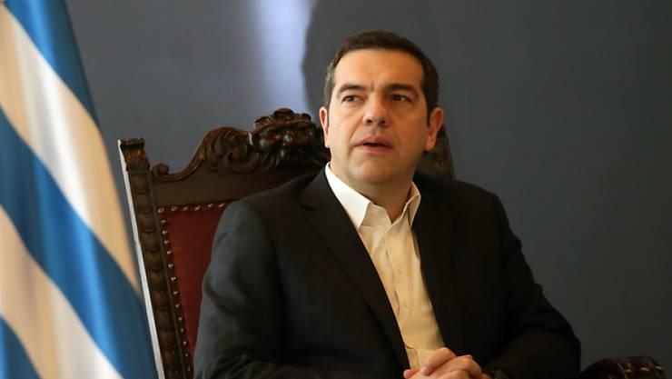Der griechische Regierungschef Alexis Tsipras macht an Silvester seinen Landsleuten viel Hoffnung, dass 2019 alles besser wird. (Archivbild)