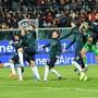 Die italienische Nationalmannschaft liess sich in Palermo nach dem zehnten Sieg im zehnten Spiel - dem 9:1 gegen Armenien - von den Fans feiern