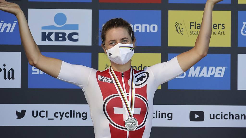 Wolte sich an ihrem 30. Geburtstag mit dem WM-Titel im Einzelzeitfahren belohnen, musste sich aber mit Silber begüngen: Marlen Reusser