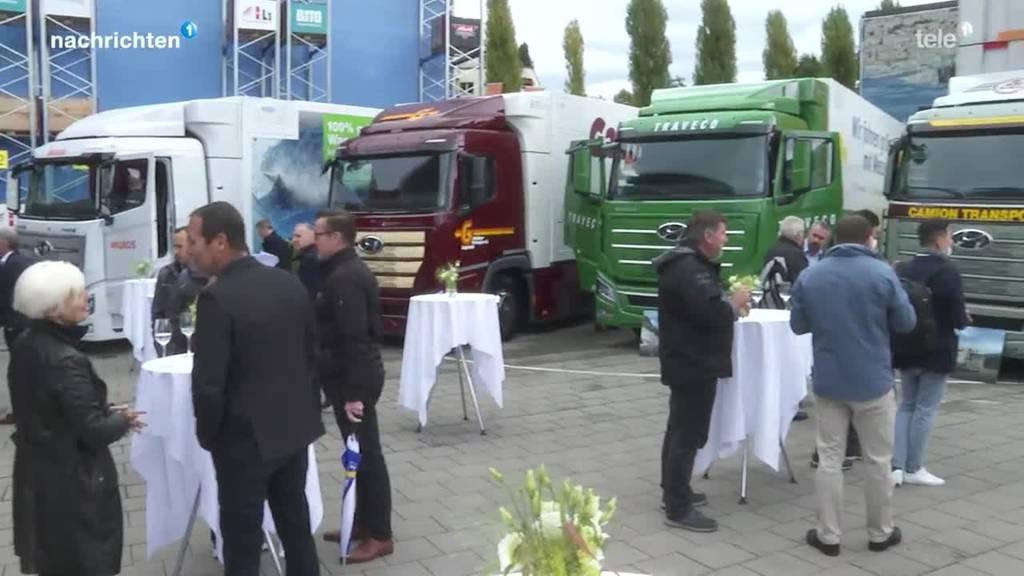 Erste Wasserstoff-LKWs in Luzern