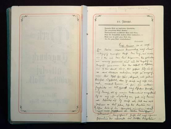 Ein Tagebuch führen hilft beim Verarbeiten von Ereignissen – Manche Tagebücher werden später sogar zu historischen Dokumenten, wie dieses Tagebuch der Südamerikareisenden Hedwig Pringsheim.