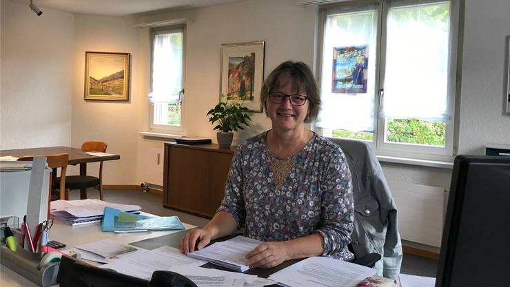 Die Gemeindepräsidentin Theres Brunner hat jetzt eine weitere Sicht auf die Arbeit in der Gemeinde.