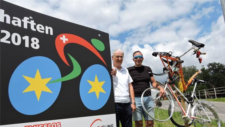 Bereit für ein rauschendes Radsportfest: OK-Präsident August «Gusti» Widmer (links) und Streckenchef Marc Riesen.