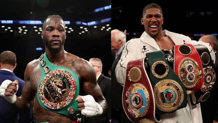 Wer ist der grösste Schwergewichtsboxer? Deontay Wilder (l.) und Anthony Joshua verhandeln über einen WM-Kampf um die vier grossen Titel.