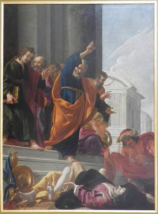 Von den 76 sogenannten «Grand Mays» wurden zuletzt 13 in den Kapellen der Kirche ausgestellt. Sie wurden bei den Löscharbeiten offenbar beschädigt.