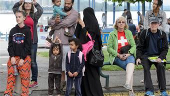Soll nach Sicherheitsdirektor Mario Fehr (SP) verboten werden: Burkas in der Öffentlichkeit (Symbolbild).MARTIAL TREZZINI/Key