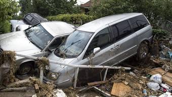 Das stundenlange Unwetter verursachte in Skopje und Umgebung enormen Sachschaden (im Bild das Dorf Stajkovci nordöstlich der mazedonischen Hauptstadt).