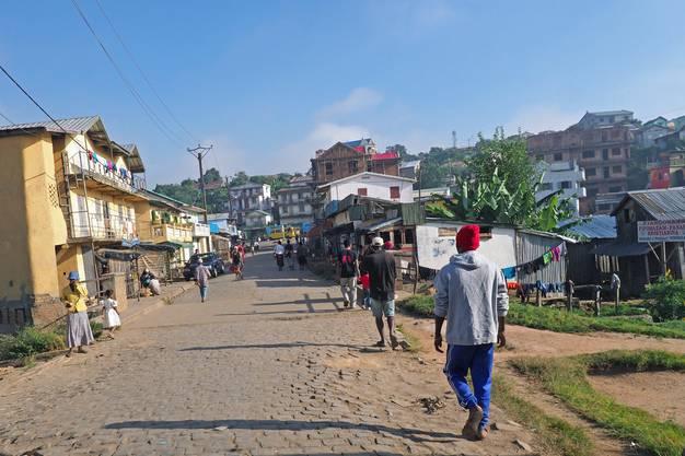Fianarantsoa am Ende der Stecke auf 1100 Höhenmetern