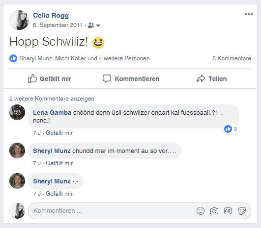 Facebook-Posts der FM1-Redaktoren (© Screenshots)