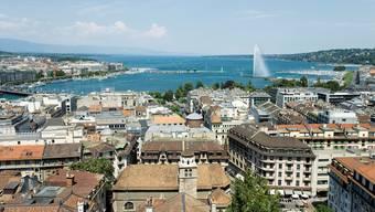Blick von der Genfer Kathedrale Saint-Pierre aus über das Rive-Quartier, in dem Pierre Maudet wohnt. Gaetan Bally/Keystone
