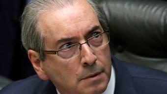 Brasiliens Präsident Eudardo Cunha muss wegen schwerer Korruptionsvorwürfe sein Amt abgeben. (Archiv)