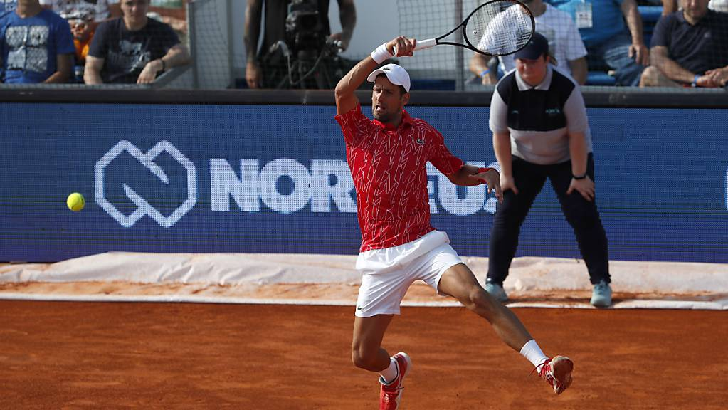 Novak Djokovic verzückt seine Fans.