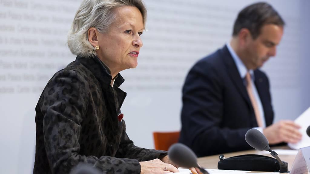 Nach gut einem Jahr ist schon wieder Schluss: Die Luzerner Ständerätin Andrea Gmür-Schönenberger tritt als Präsidentin der Mitte-Fraktion zurück. (Archivbild)