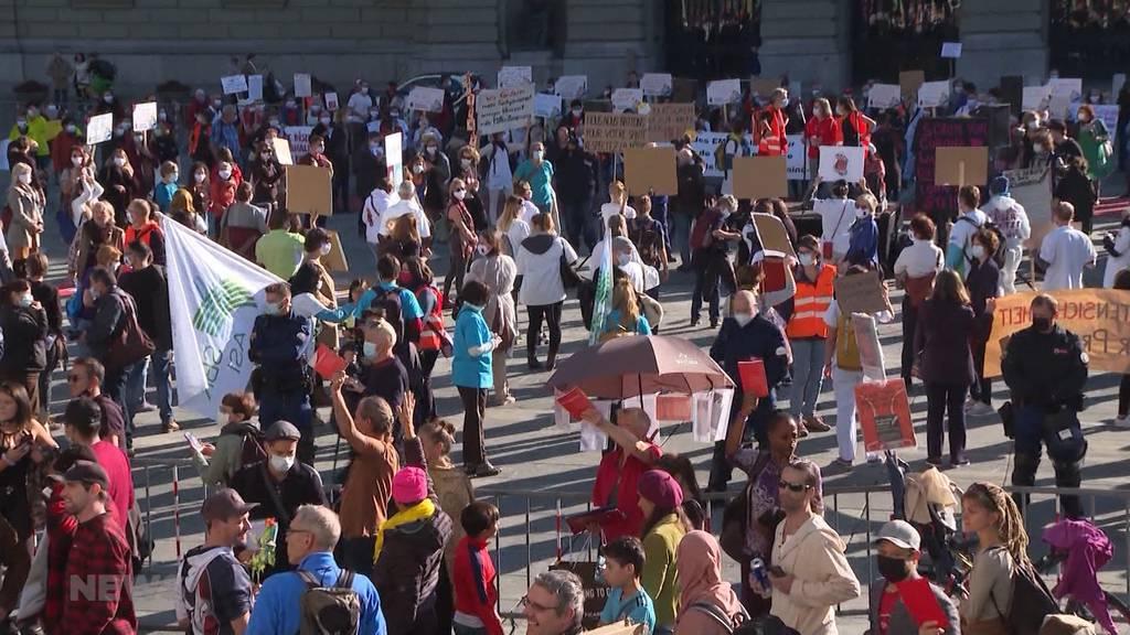 Appell des Kantons Bern: Es soll auf Demos verzichtet werden