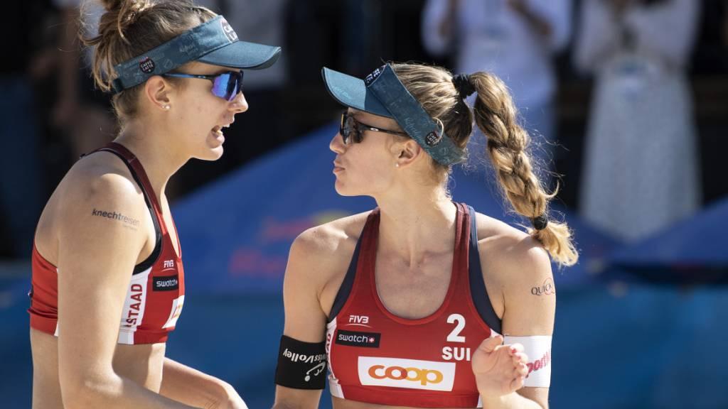 Tanja Hüberli (links) and Nina Betschart sind an der EM in Lettland die Nummer 1 im Frauentableau.