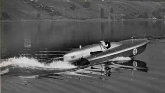 210,67 Stundenkilometer: Sir Malcolm Campbell stellte heute vor 80 Jahren mit seinem Rennboot «Bluebird K3» einen neuen Rekord auf.