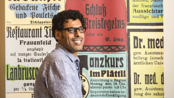 Schriftsteller Usama Al Shahmani in der Kantonsbibliothek Frauenfeld.