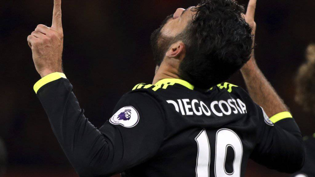 Diego Costa nach seinem Siegestor für Chelsea in Middlesbrough