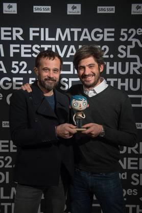 Claude Barras und Max Karli mit «Courgette»