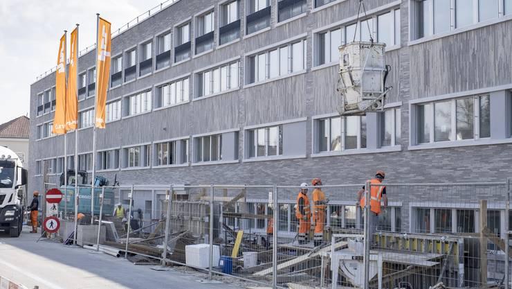 Die Baustelle des Neubaus Hirzbrunnen des Claraspitals geriet ins Visier der Gewerkschaft Unia.