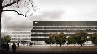 So soll das neue FHNW-Gebäude auf dem Basler Dreispitz aussehen