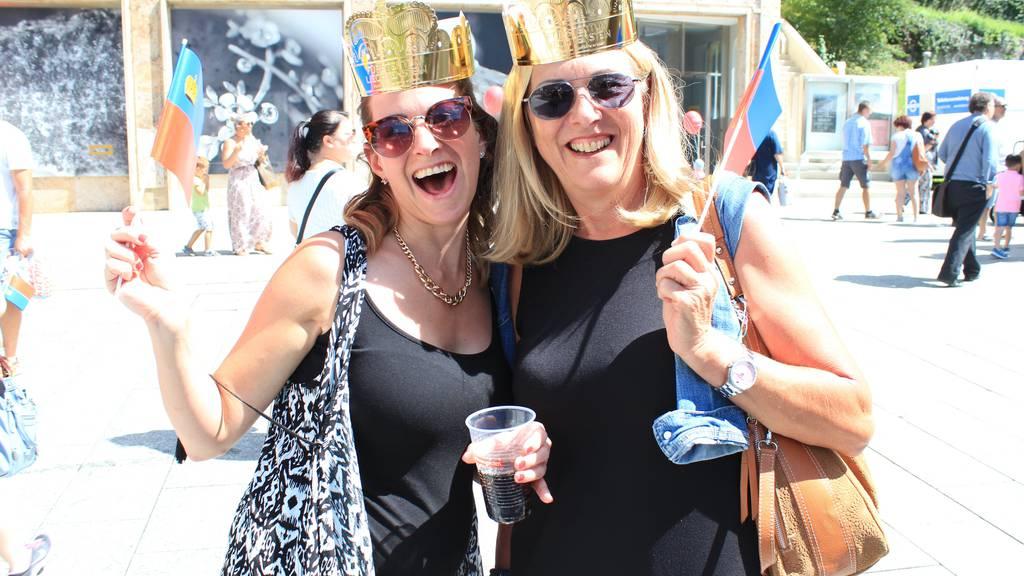 Die Stimmung am Volksfest in Vaduz ist ausgelassen.
