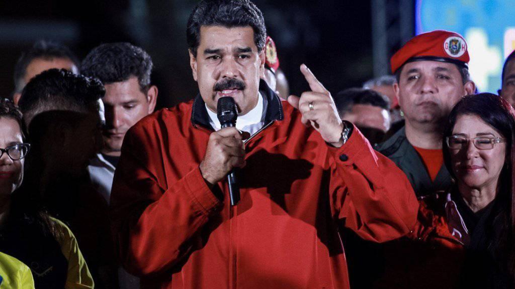 Hat nur noch Spott übrig für den US-Präsidenten Donald Trump: Venezuelas Präsident Nicolàs Maduro.
