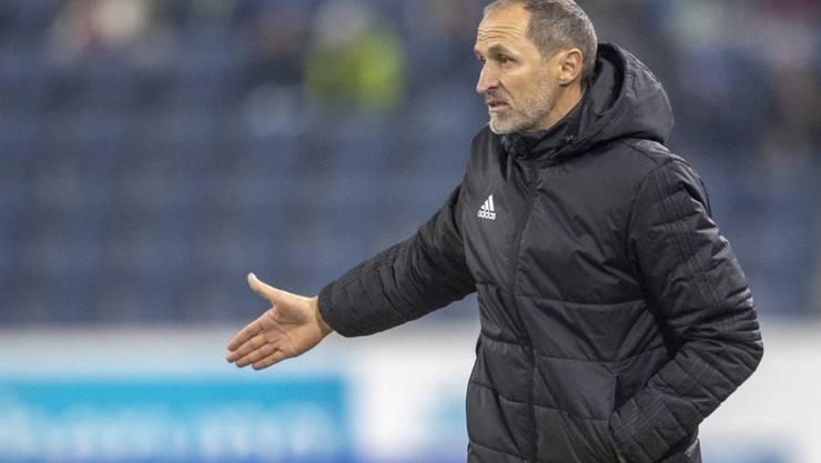 Luzerns Trainer Thomas Häberli will im Cup-Halbfinal gegen Thun für ein nächstes Ausrufezeichen sorgen