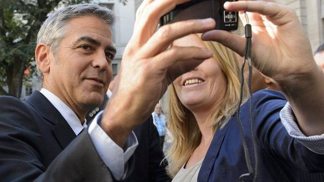 Fototermin mit George Clooney in Genf