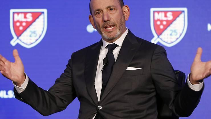 MLS-Commissioner Don Garber muss bei der Wiederaufnahme auf den Topspieler der Liga sowie auf das Team von Dallas verzichten