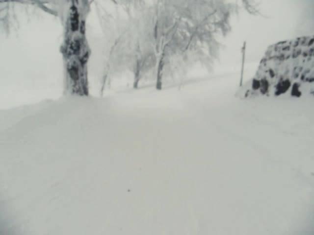 Die knapp 11-minütige Abfahrt vom Weissenstein auf Skiern in knapp 4 Minuten erleben