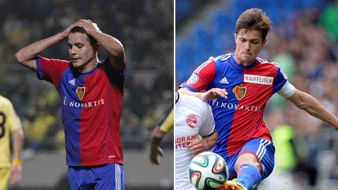 Philipp Degen (links) fällt «für einige Wochen» aus - Valentin Stocker mindestens bis zum Wochenende.