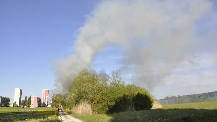 Der Brand sorgte für reichlich Rauchentwicklung.