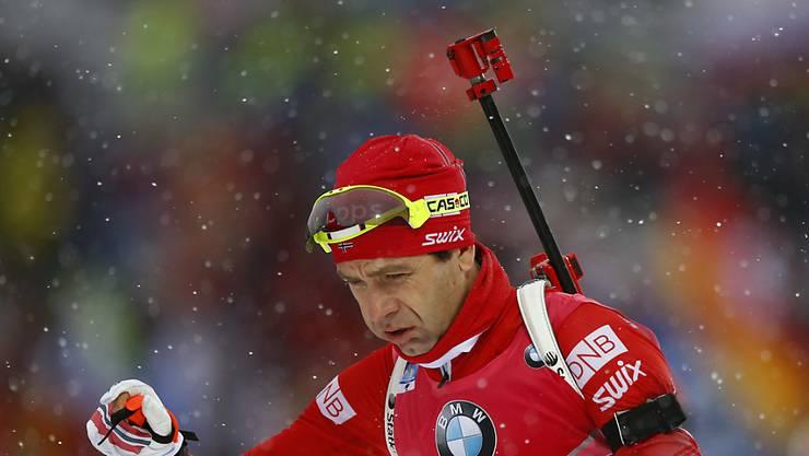 Ole Einar Björndalen auf dem Weg zu seinem 20. WM-Gold (Archivaufnahme)