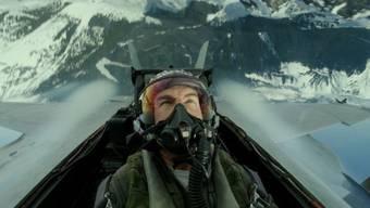 """Tom Cruise als Capt. Pete """"Maverick"""" Mitchell in """"Top Gun: Maverick."""", der auf Weihnachten in die Kinos kommt. Danach plant der Schauspieler noch waghalsigere Stunts: Er lässt sich auf die ISS bringen. (Pressebild)"""