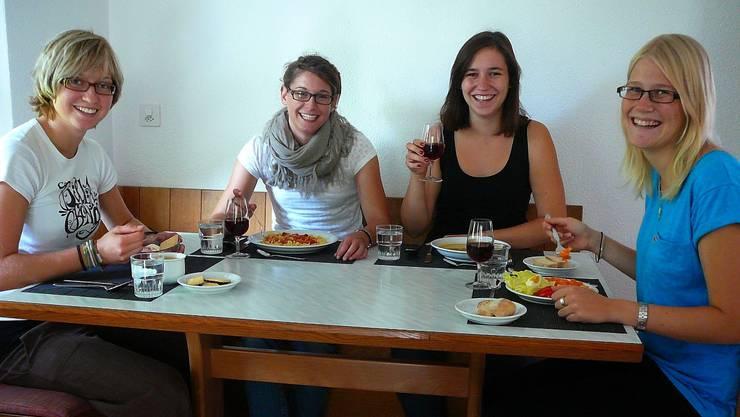 Franziska Peterhans, Bianca Schellenberg, Katrin Vogt und Kathrin Weber essen für einmal glutenfrei.