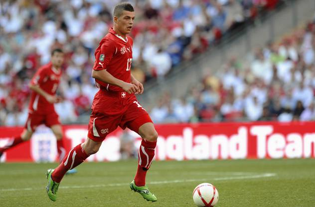 Granit Xhaka bei seinem Debüt für die Schweizer Nationalmannschaft.