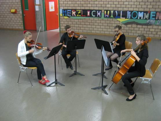 Ensemble Quartetto (Jugendorchester Aarau): Auftritt an der GV von mga