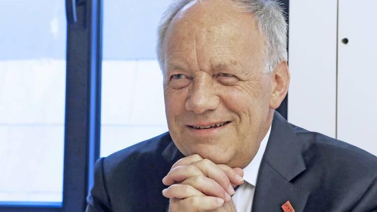 Johann Schneider-Ammann: Ich setze mich nach Kräften ein, um der Industrie entgegenzukommen.