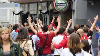 Standard Lüttich-Fans in Zürich