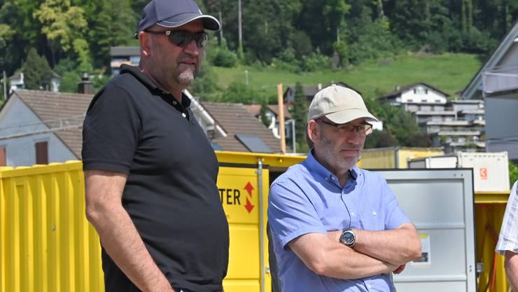 Während Gemeindepräsident Roberto Aletti (rechts) die CVP- Ortspartei vertritt, gehört Vizegemeindepräsident Andreas Meier zu den Unabhängigen.