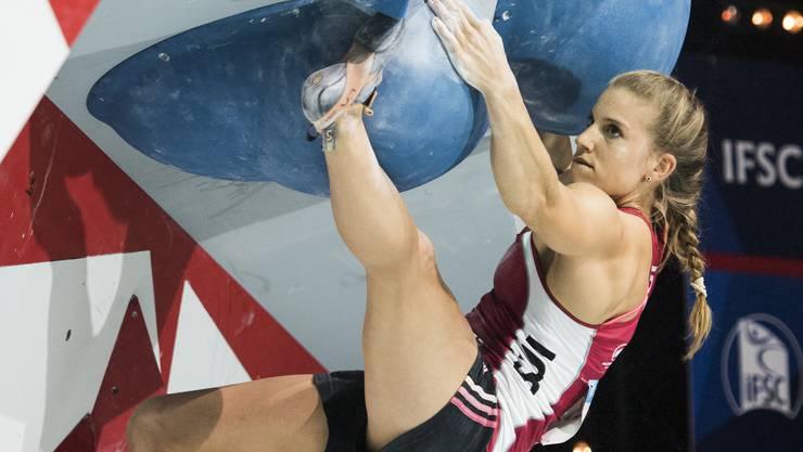 Petra Klingler aus Bonstetten, Weltmeisterin 2016 im Bouldern, will in Pratteln ihren Schweizermeistertitel verteidigen.