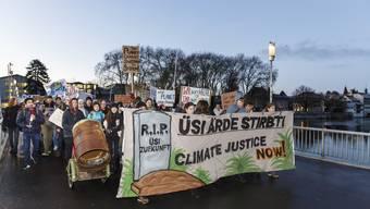 Rund 300 Jugendliche streikten vor einer Woche für das Klima.