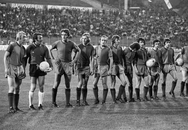 Die Basler Mannschaft vor dem entscheidenden Spiel im Wankdorf gegen YB.