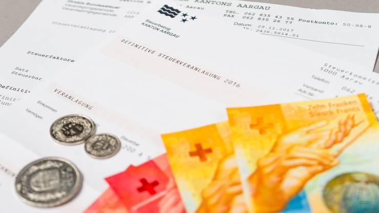 Im Schnitt zahlt Familie Lindenblatt 2018 im Fricktal 8179 Franken Steuern.