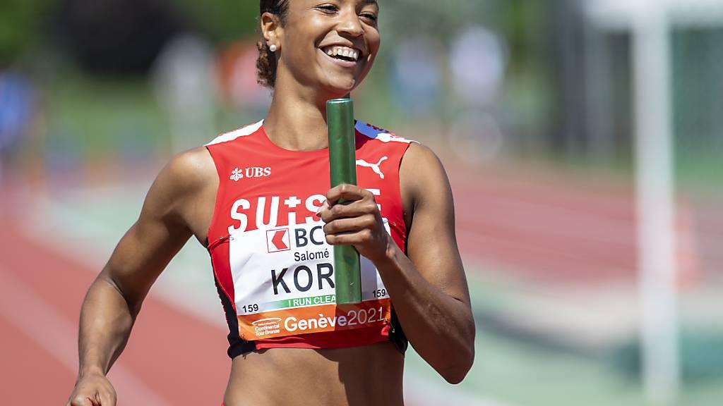 Salomé Kora stellte später im Einzelrennen über 100 m gar noch eine persönliche Bestzeit auf