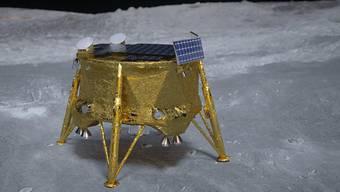 Für die Mondlandfähre des israelischen Unternehmens SpaceIL (im Bild) liefert Ruag eine Halterung.