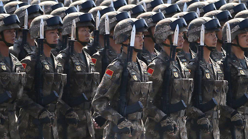 Acht Prozent mehr Ausgaben fürs Militär: Chinas Armeebudget wächst schwächer als auch schon.
