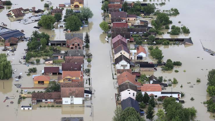 In Serbien wurden ganze Landstriche überflutet.
